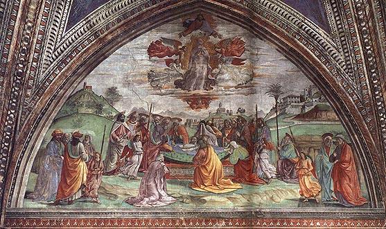 Domenico Ghirlandaio: Morte e Assunzione della Vergine