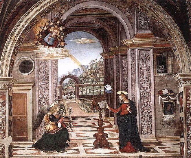 Pinturicchio: Cappella Baglioni - L'Annunciazione