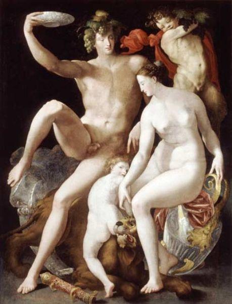 Rosso Fiorentino: Bacco, Venere e Amore