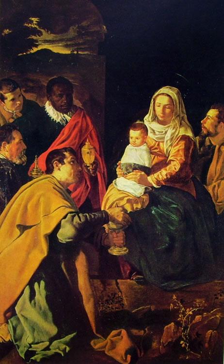 L'adorazione dei Magi, Madrid Prado cm. 125