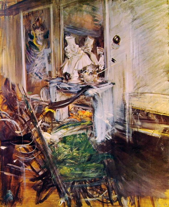 """Giovanni Boldini: Il """"Cardinale"""" del Bernini nella camera del pittore"""