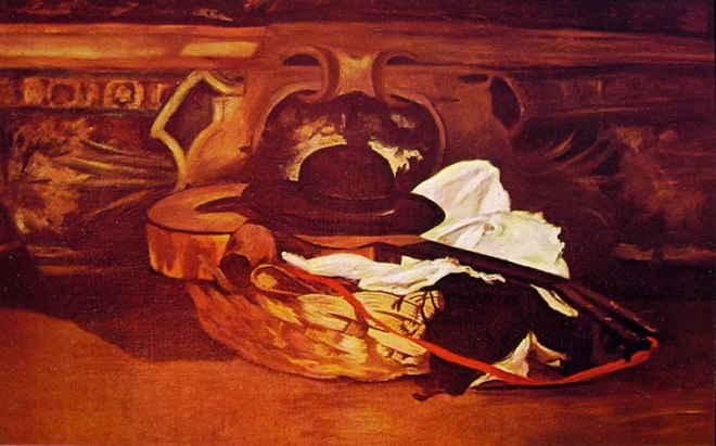 Edouard Manet: Chitarra con cappello
