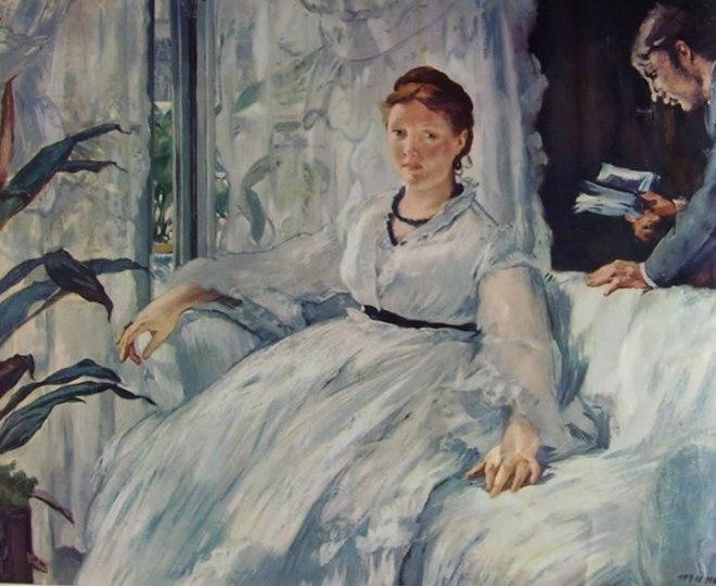 Edouard Manet: La lettura - Leon Koella intento a leggere e la moglie di Manet