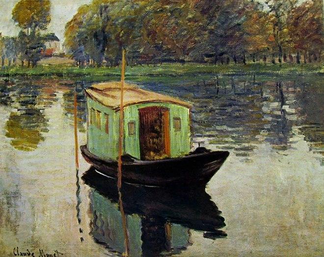 Claude Monet: Lungo la Senna - Il battello studio di Monet