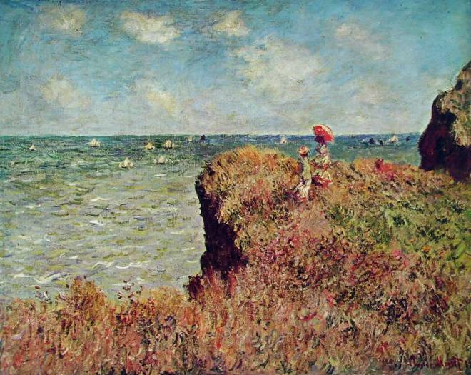 Claude Monet: Passeggiata sulla scogliera