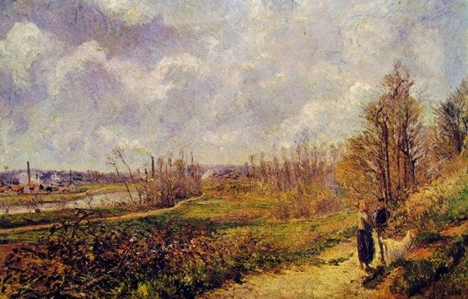 Camille Pissarro: La Sente du Chou a Pontoise