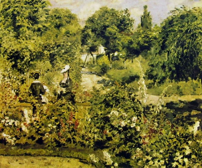 Giardino a Fontenay, 1874, cm 51 x 62, Reinhart Winterthur