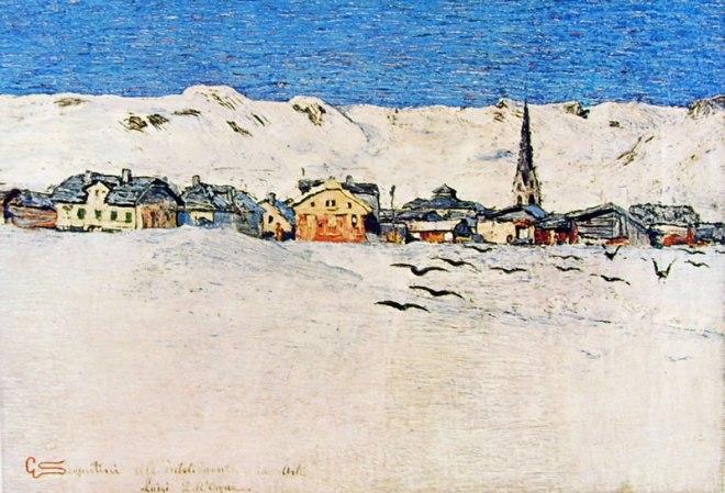 Giovanni Segantini: Savognino d'Inverno