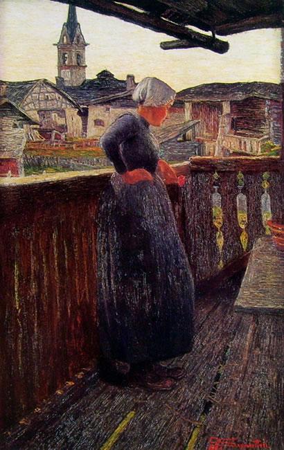 Giovanni Segantini: Sul balcone