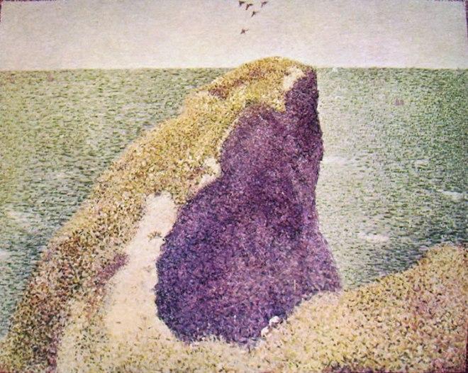 Georges-Pierre Seurat: Il Bec du Hoc a Grandcamp