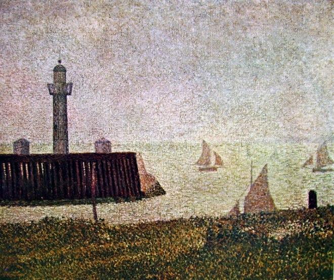 Georges-Pierre Seurat: Il molo a Honfleur