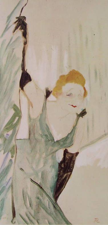 Toulouse-Lautrec: Yvette Guilbert saluta il pubblico
