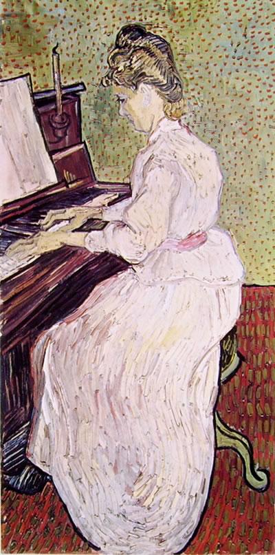 Marguerite Gachet al piano