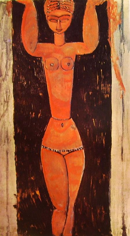 Amedeo Modigliani: Cariatide in piedi