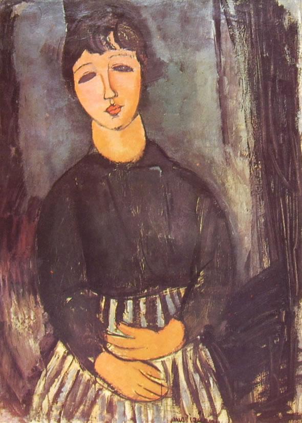 Amedeo Modigliani: La servetta seduta