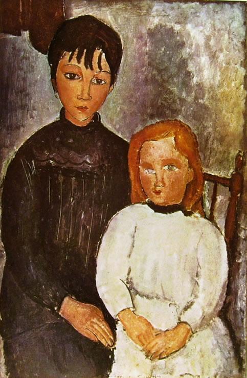 Amedeo Modigliani: Due bambine