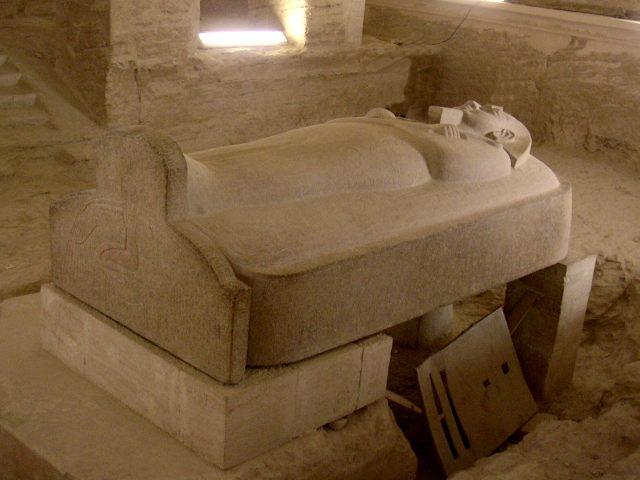 sarcofago tomba di Merenptah,