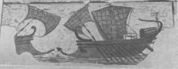 Mosaico con raffigurata una nave, Museo di Sousse