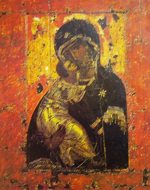 Vergine di Vladimir , Scuola di Costantinopoli, XII secolo, Galleria Tret'jakov, Mosca