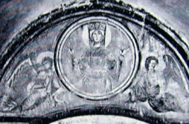 Lunetta nell'atrio Sant'angelo in Formis