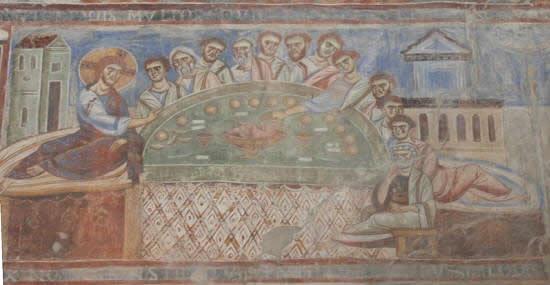 Ultima cena, basilica benedettina Sant'Angelo in Formis (Capua)