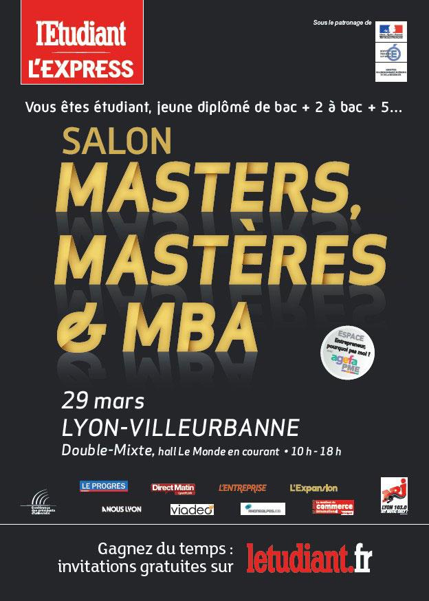 Présentation du salon des Masters, Mastères et MBA de Lyon
