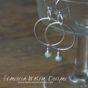 Silver-Hoops-with-Aquamarine
