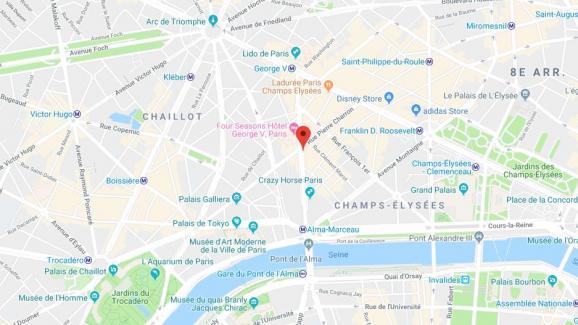 L\'avenue Georges V, à Paris