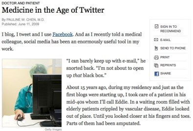 Medicine in the Age of Twitter