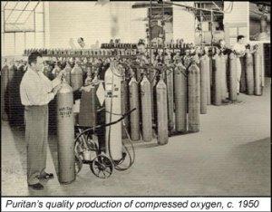 Puritan compressed oxygen