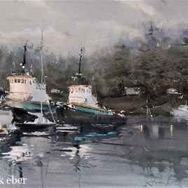 Working Late On The Tugs (2016) by Frank Eber