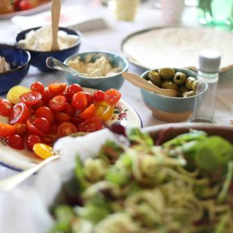 Photography workshop food buffet