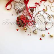Frankly Photos File no.10sq - Inst Sq Red Xmas Styled Stock Photo