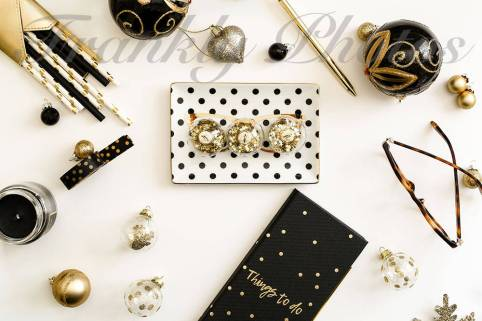 Frankly Photos File no.12 - Gold and Black Christmas Styled Stock Photo copy