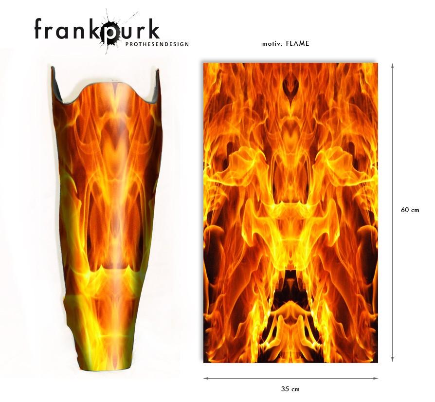 Dekostrumpf - Feuer Design
