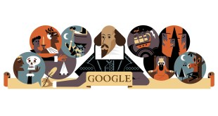 google doodle william shakspeare