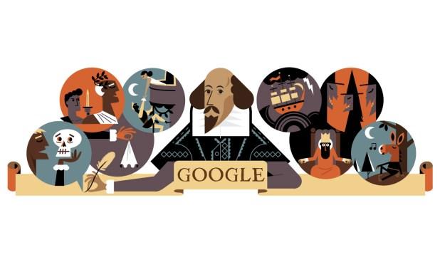 google doodle William Shakespeare