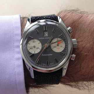 Nivada Grenchen Datomaster on the wrist