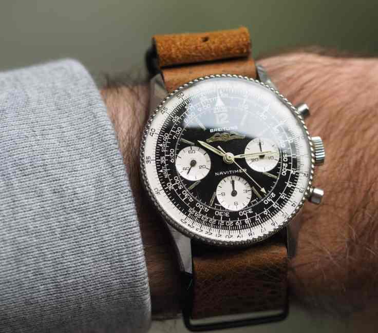 Breitling Navitimer 806 on the wrist