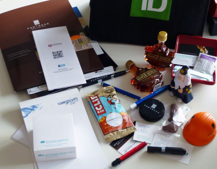 branded swag from companies in the mortgage industry