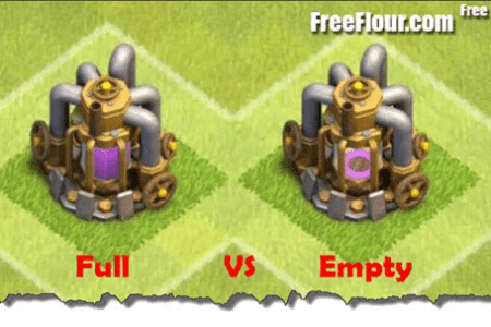 clash of clans farming strategy collector full vs empty