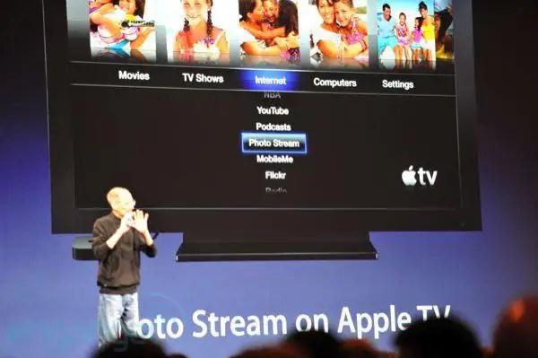 Menu Apple TV