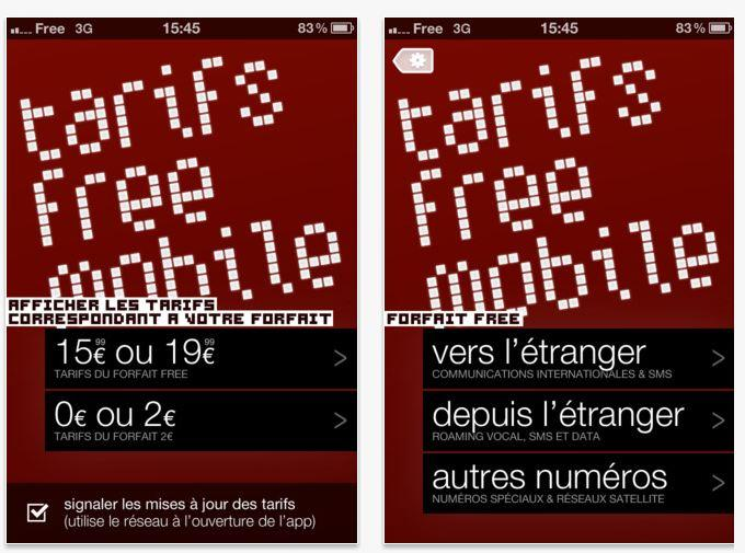 free mobile a l'étranger tarif Windows