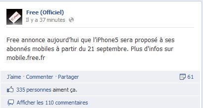 iphone 5 chez free mobile