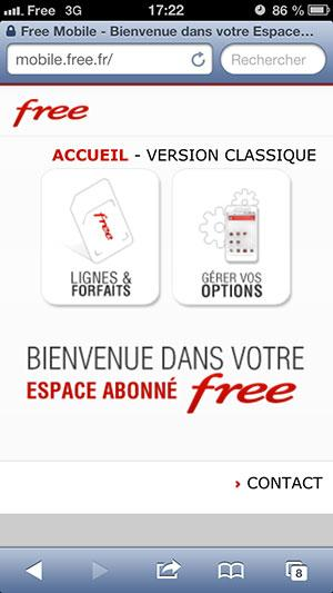 espace abonn free mobile version mobile disponible. Black Bedroom Furniture Sets. Home Design Ideas
