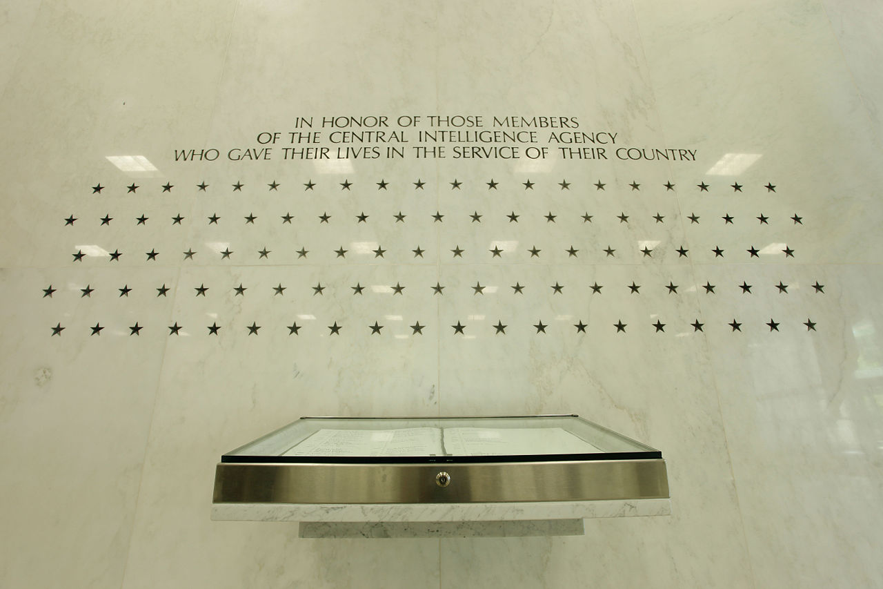 The Memorial Wall, the Original Headquarters Building lobby, The Central Intelligence Agency