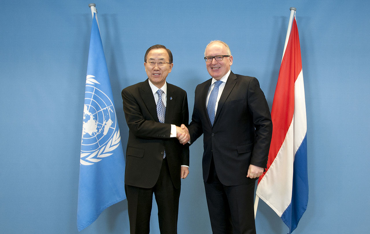 Ban Ki-moon and Frans Timmermans, photo Dutch Ministry of Foreign Affairs