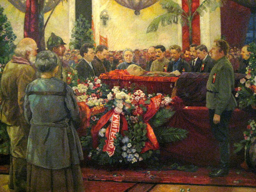 Lenin's Funeral by I. Brodsky (1925)