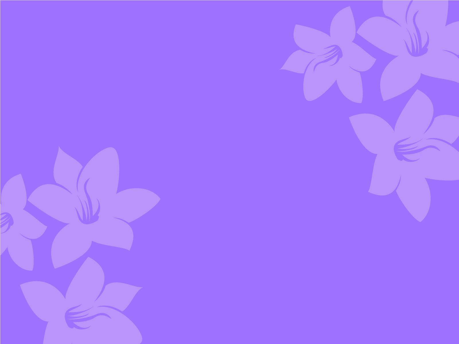 Purple flower powerpoint backgrounds