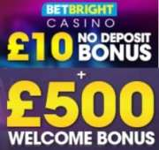 BetBright Casino free bonus